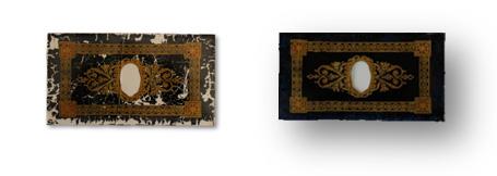 Before & After Clock Trunk Glass Restoration caseyclockrestoration