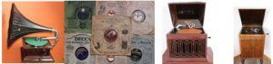 HMV Model 24, Sonora Melodie & HMV Model156 gramophones caseyclockrestoration