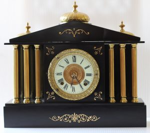 Black Marble / Slate clock caseyclockrestoration