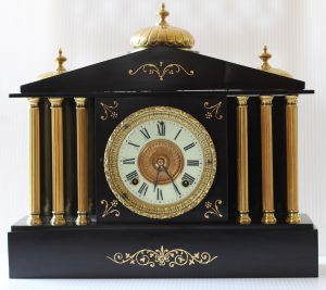 Ansonia Black Marble/Slate Clock caseyclockrestoration