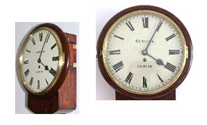 Drop Dial Clock Circa-1860 caseyclockrestoration