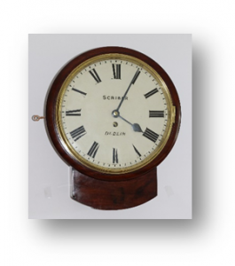 Scriber of Dublin Drop Dial clock Circa-1860 caseyclockrestoration