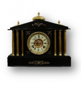 Ansonia Black Slate Clock caseyclockrestoration