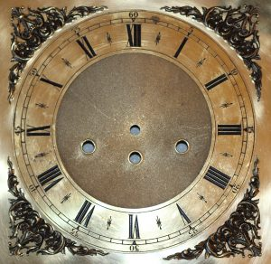 Grandfather Clock Dial / face caseyclockrestoration