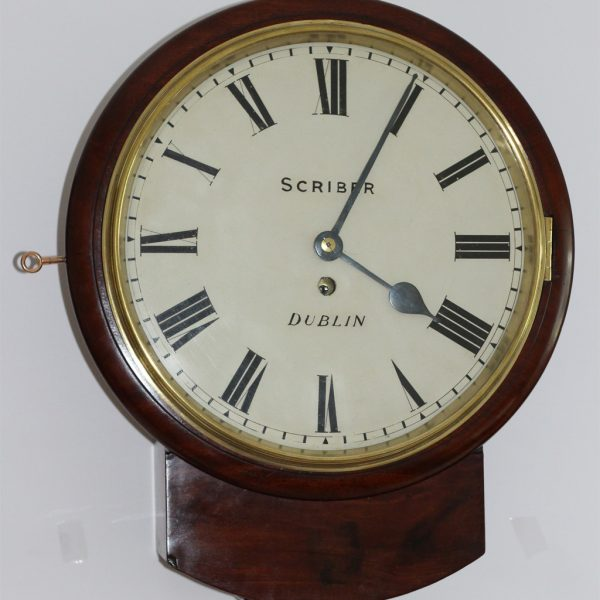 Scriber of Dublin Drop Dial Clock caseyclockrestoration