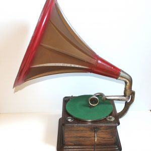 Thorens Helvitia Gramophone side. Casey Clock Restoration
