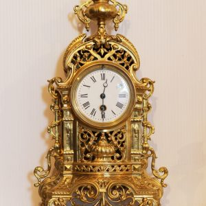 French Brass Mantel Timepiece Circa 1870 - 1900. Casey Clock Restoration