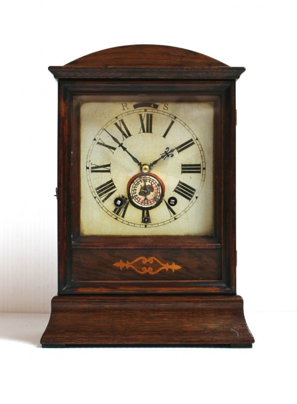 Winterhalder and Hofmeier Cottage Clock With Alarm circa 1890 - 1900. Casey Clock Restoration