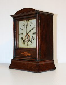 Winterhalder and Hofmeier Cottage Clock With Alarm circa 1890 - 1900. Casey Clock Restoration