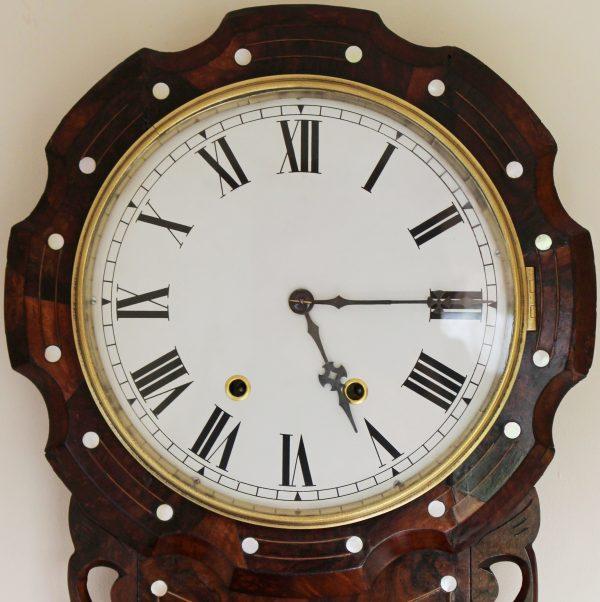 New haven Scalloped drop dial clock circa 1880 - 1900 Casey Clock Restoration